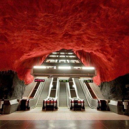 Visit Stockholm metro station
