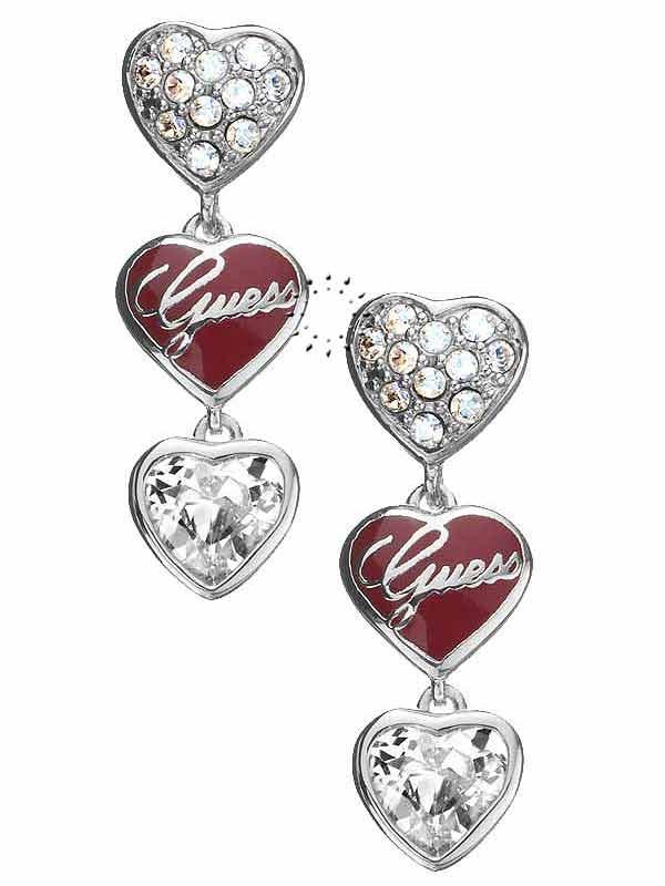 Σκουλαρίκια καρδιά από ορείχαλκο της Guess  49€  http://www.kosmima.gr/product_info.php?products_id=10802