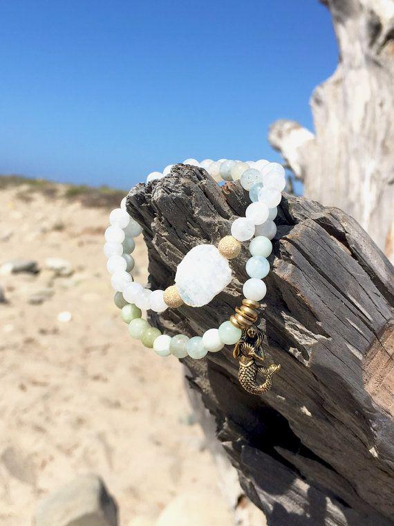 Salted Life Aquamarine/ Moonstone / Mermaid Bracelet