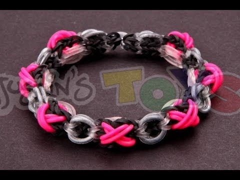 XOXO Bracelet Tutorial – VERY ADVANCED – Made with Rainbow Loom Rubber Bands | Rainbow Loom Fans