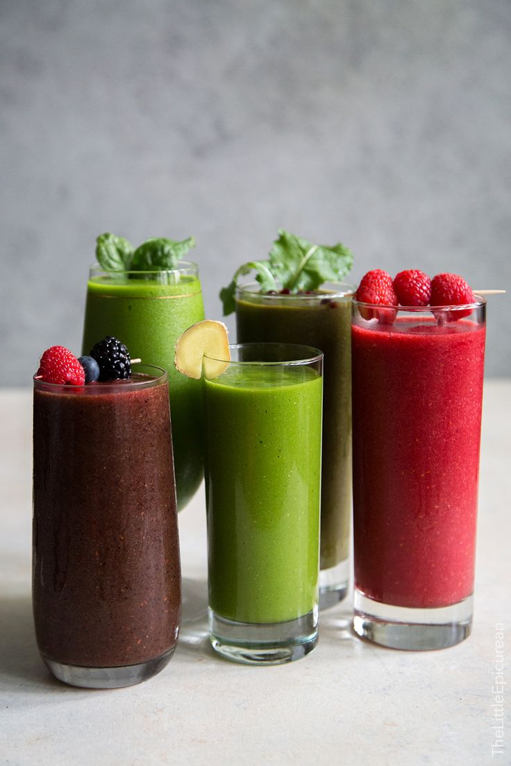 5 fruit and veggie smoothies: One for each day of the work week!