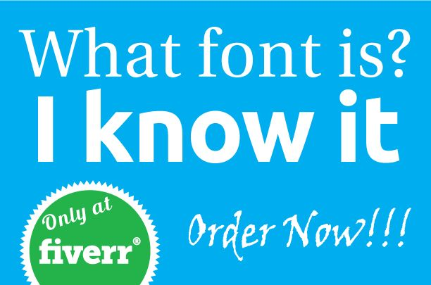 accurately find font from any image by tanveer15