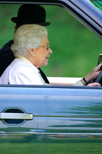 Queen Elizabeth II attends the Royal Windsor Horse Show at Home Park on May 17, 2014 in Windsor, England