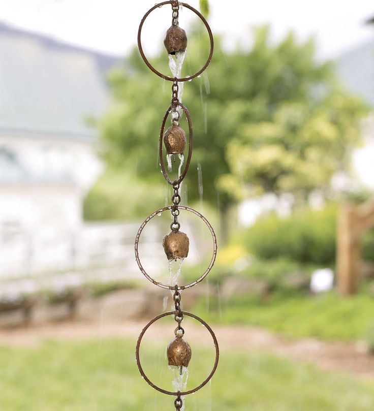 Metal Copper Rain Chain with Bells
