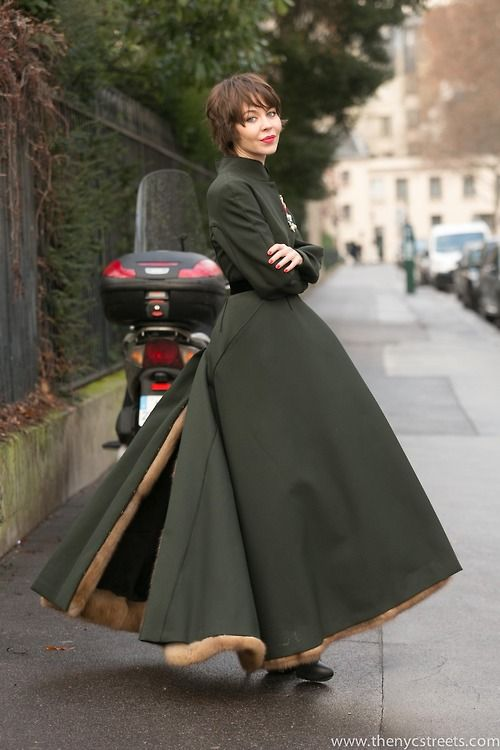 Ulyana Sergeenko after Dior Couture FW14 - January 2014 -...