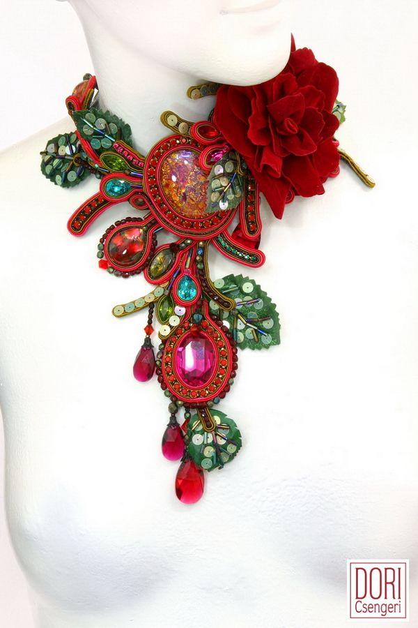 Incredible soutache necklace from Dori Csengeri