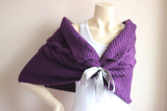 Purple Bridal Capelet / Wedding Wrap Shrug by dreamhouse1 on Etsy