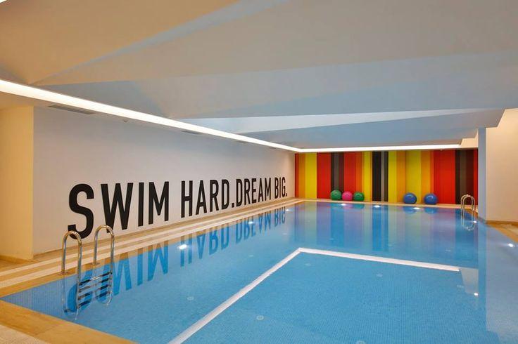 Girls dormitory pool are design and interior #rendahelindesign #winner #award #europeanpropertyawards #publicserviceinterior #publicservicesdevelopment #propertyawards #decor #decoration #interior #interiordesign #konforist #dorm #girls #InternationalPropertyAwards