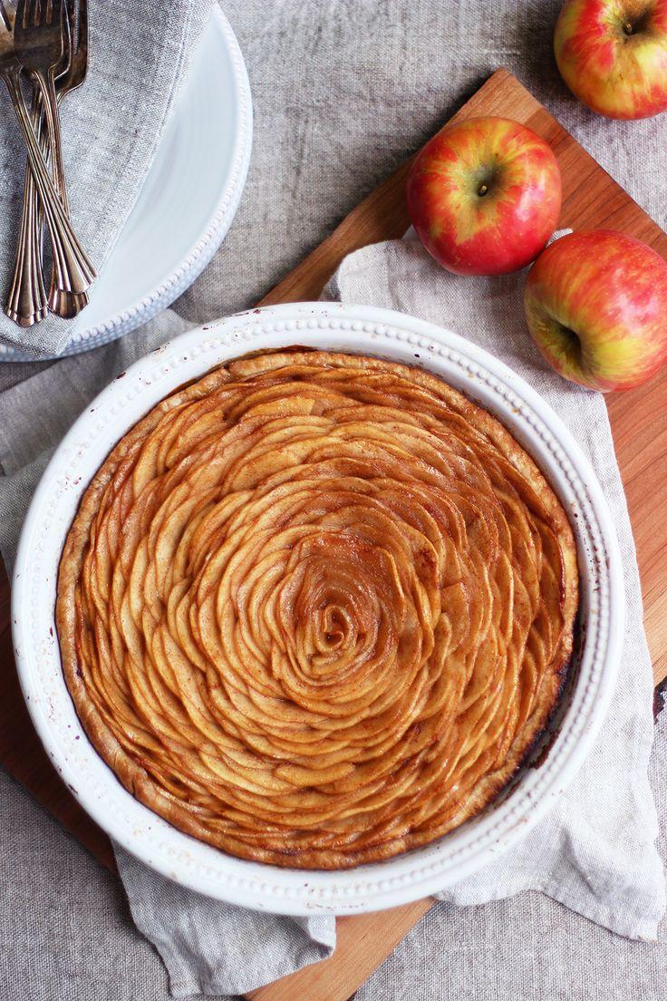 Open Face Apple Pie