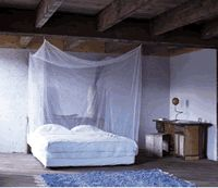 Pyramid Traditional Box Mosquito Net - Double - Untreated