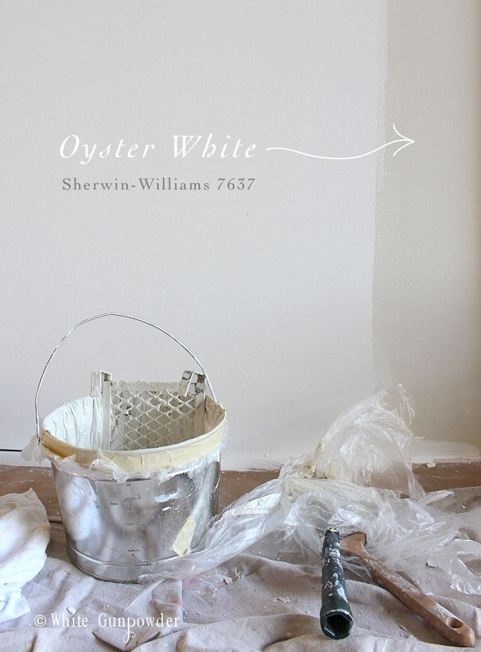 Oyster White ...my new favorite paint color - White Gunpowder
