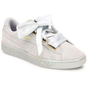 PUMA Basket Heart Suedeand Satin Sneakers