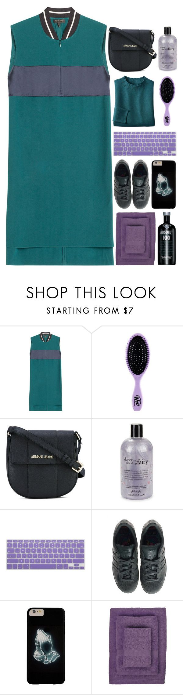 """6624"" by tiffanyelinor ❤ liked on Polyvore featuring rag & bone, The Wet Brush, Armani Jeans, philosophy, adidas and IGH"