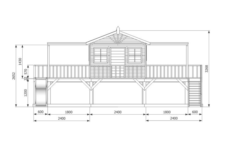 Elevated Playhouse Designs Plans - WoodWorking Projects & Plans