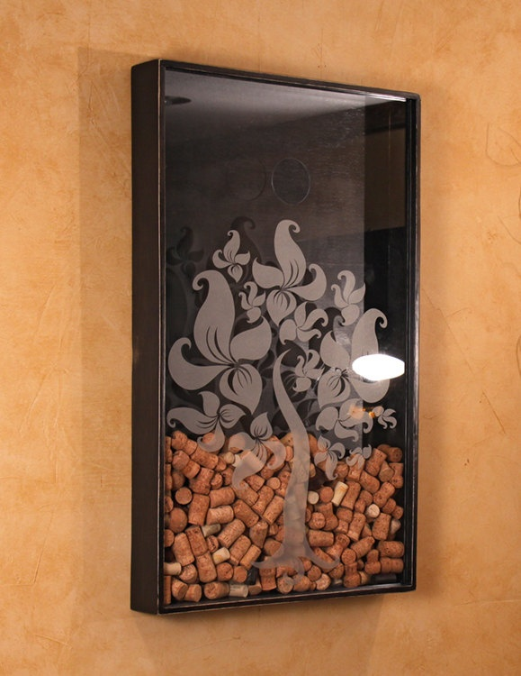 Wine Cork Holder Wall Decor 18 best wine cork boxes images on pinterest | wine corks, shadow