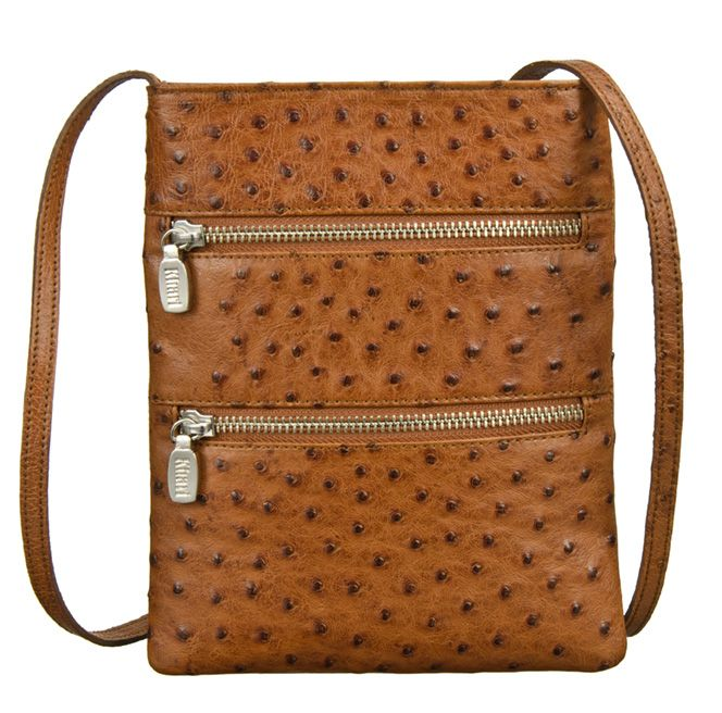 Khari Bag Melbourne / Material Ostrich Leather / Dimensions: w22 x h17 x d2