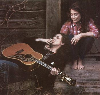 """Loretta Lynn and Jack White - one of my all-time favorite duets was their """"portland, oregon"""".  also jack white."""