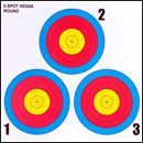 .30-06 3 Spot Vegas Paper Target 100 Count
