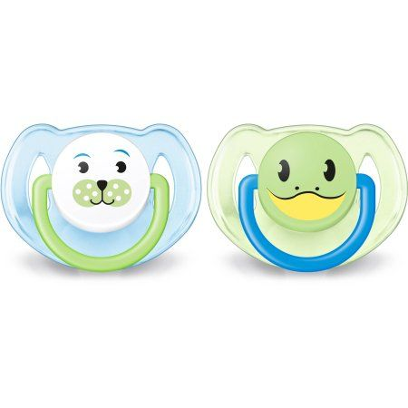 Philips Avent Soother Animal Pacifier, 6-18 Months, 2pk, Blue/Green, BPA-Free