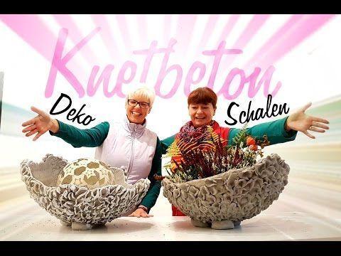 Dekoschalen aus Knetbeton.Die Anleitung zum selbst machen! – YouTube – #Anleitun…