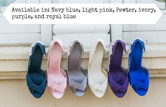 Wedding Heels  Royal Blue Wedding Shoes Blue Bridal by walkinonair, $99.00