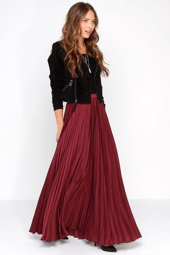 New yellow pleated high waist long women skirt maxi spring summer elastic waist