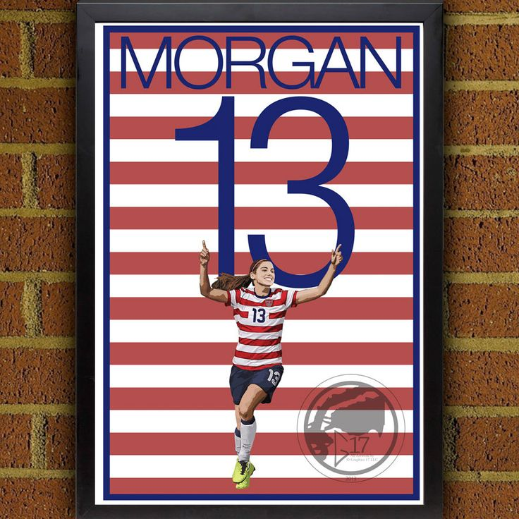 Alex Morgan 13 Poster - USWNT - USA Soccer Poster World Cup poster, art, wall decor, home decor, Alex Morgan print, alex morgan art work #soccer #wallart #decor #canvas #art #poster #graphicdesign #soccerart #football #futbol #etsy #g17 #graphics17 #etsy