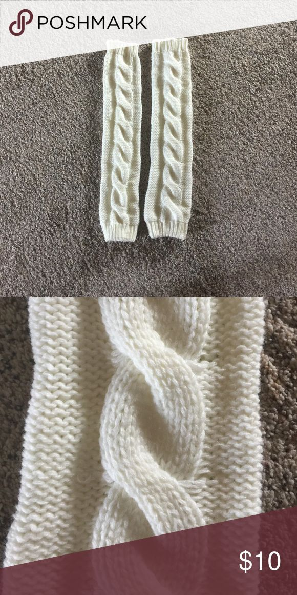 Knitted leg warmers! Cream. Pulled up- mid thigh. Scrunched down, below knee! Super cute under boots OR to and from the gym over your yoga pants. Other