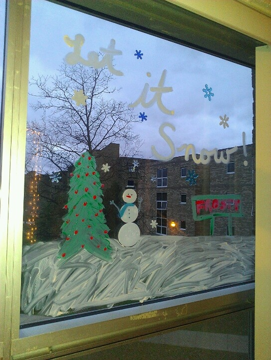 Window art! We are a creative bunch!