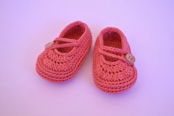Ballerine semplice stile giapponese. Scarpe di BabyBootsBoutique crochet mary janes ballerina