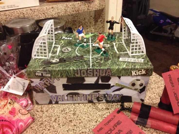 soccer valentine box 3rd grade contest - Soccer Valentine Box