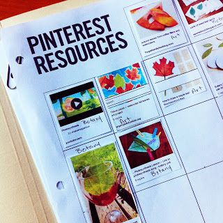 Print out your lesson planning pins & add directly to lesson plan book