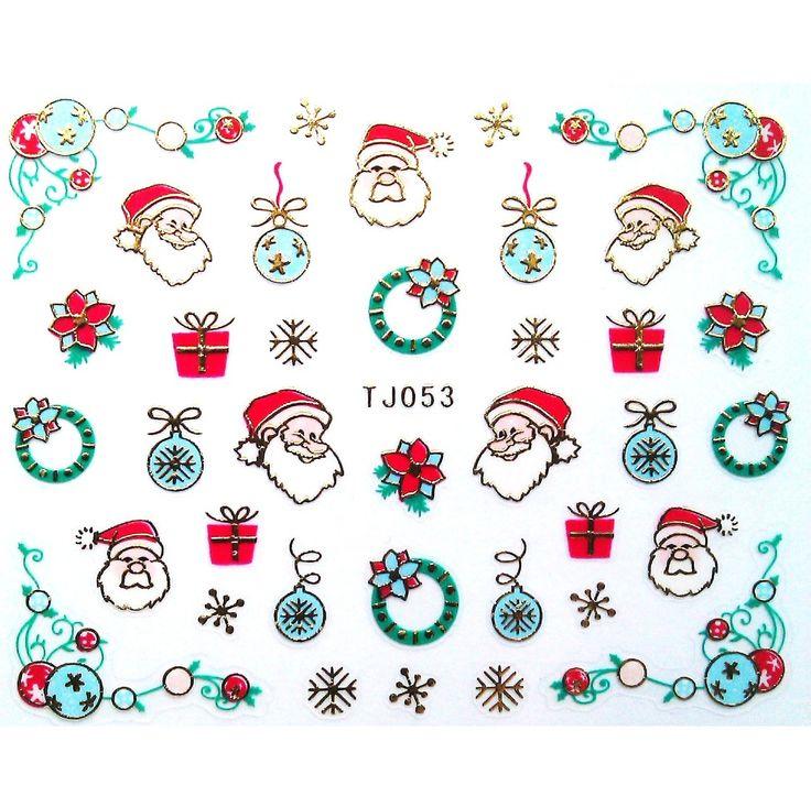Charlies Nail Art - Father Christmas nail stickers, £1.00 (http://www.charliesnailart.co.uk/father-christmas-nail-stickers/)