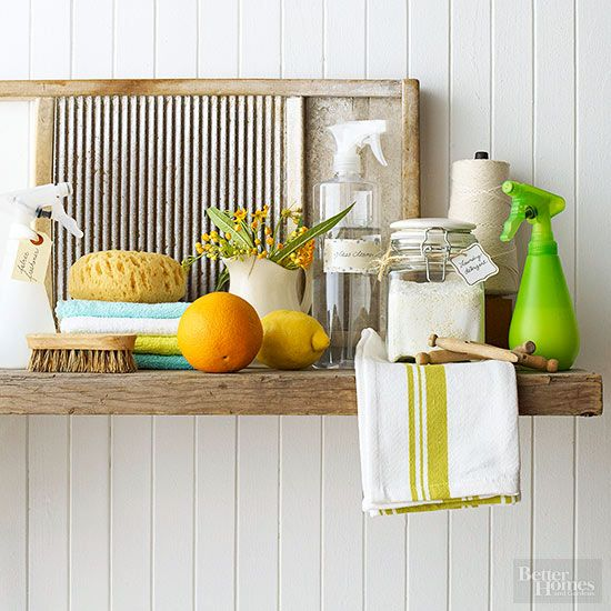 Whip up your own homemade cleaners that are easy on your wallet and on the earth. Get our recipes for homemade air freshener, laundry detergent, laundry rinse aid, upholstery-freshening spray, all-purpose cleaner, and window and glass cleaner.