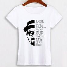 Breaking Bad maglietta del Cotone Delle Magliette Delle Donne Monica Nirvana 5 secondi Di Estate Ramones Tees Beatles Shirt Womens Top Trasporto libero(China (Mainland))