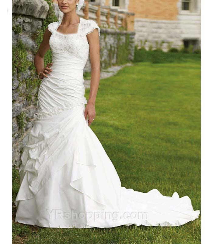 Dresse lds modest wedding gowns lds temple wedding for Mormon temple wedding dresses