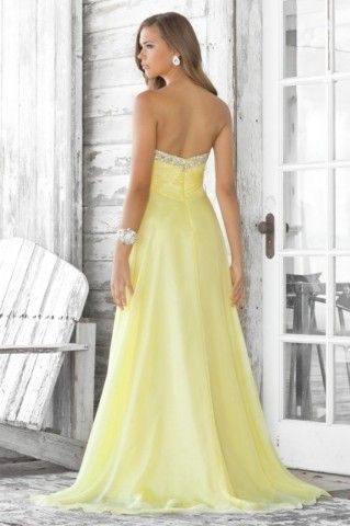 Not a long dress fan for bridesmaids but this shade of yellow is perfect for what I want.