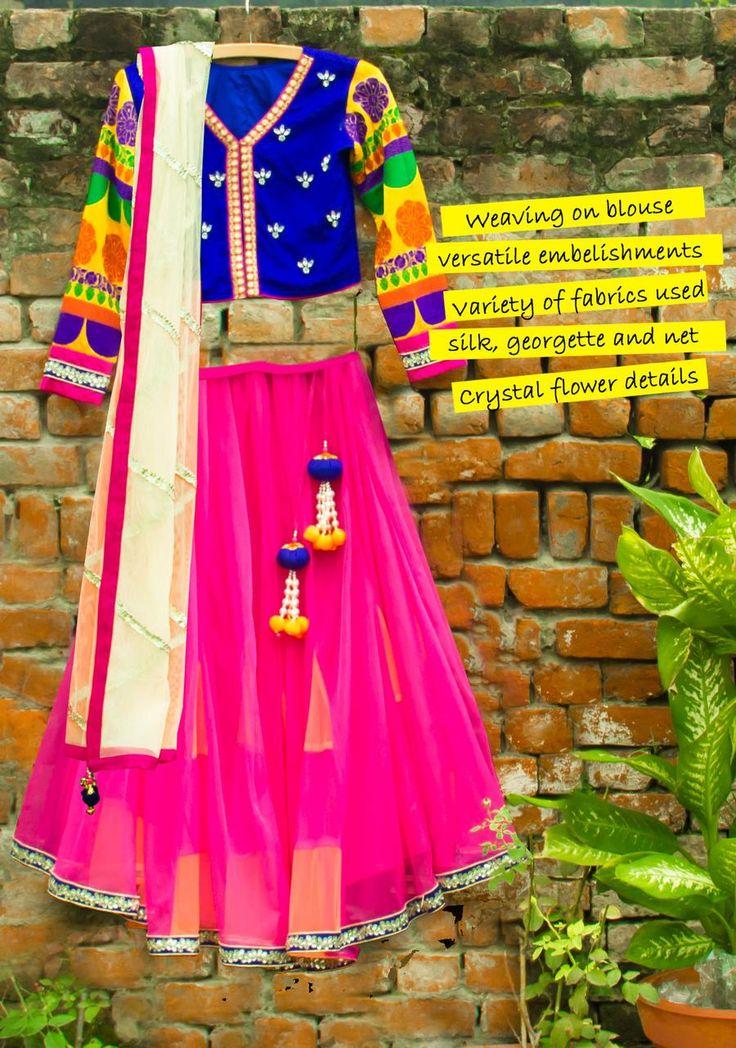 Our Godet Lehenga with Silk Jacket