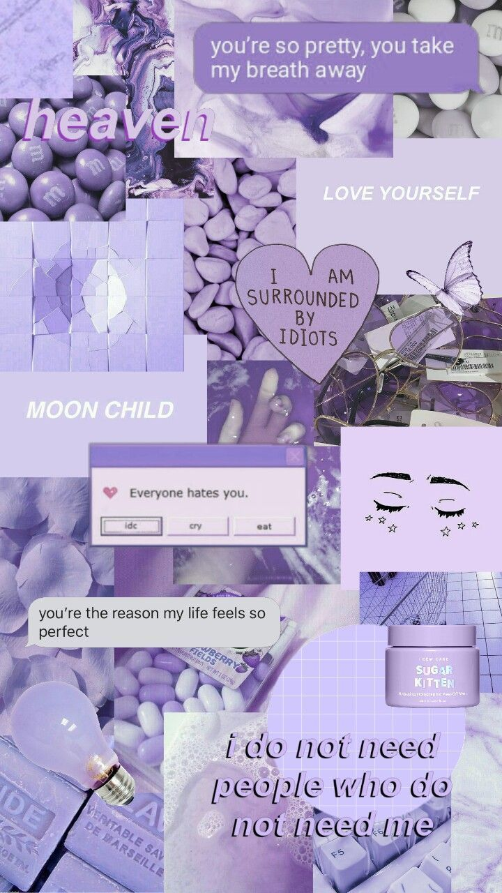 Nice Purple Aesthetic Collage Wallpapers Purple Aesthetic