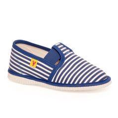 Papuče modrý pásik