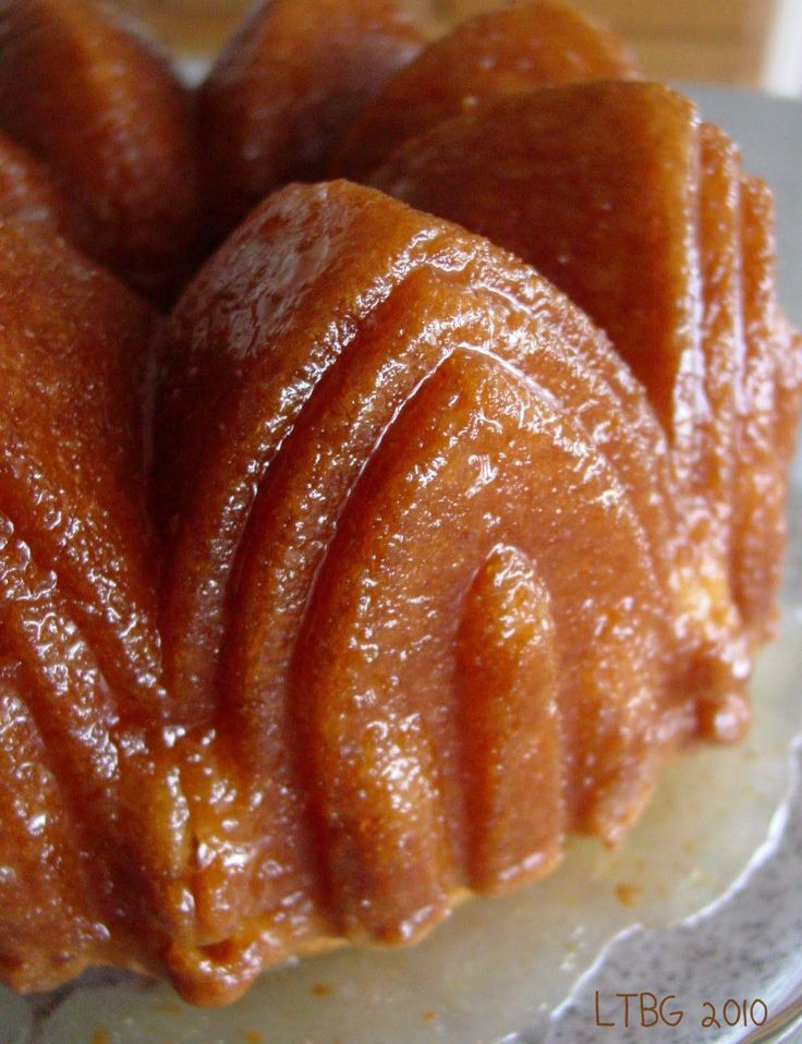 Lick The Bowl Good: Think Harder Rum Cake. I like how she does the glaze. I'll try her way next time!