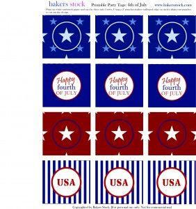 Printable 4th of July circles: Holiday Ideas, Printable Circles, 4Thofjuly Printables, Printable 4Th, Free Printables
