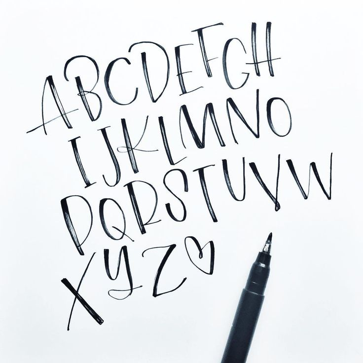 Hand Lettering Alphabet By Kate Rondorf