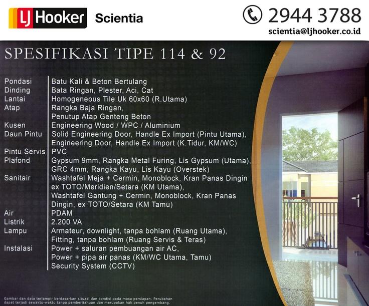 Spesifikasi 114 & 92