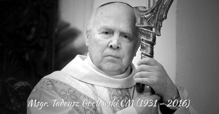 [POL – ENG – ESP] MSGR TADEUSZ GOCŁOWSKI CM (1931-2016) Archbishop Emeritus of Gdansk (Province of Poland) died May 2, 2016 in hospital in Gdansk #RIP
