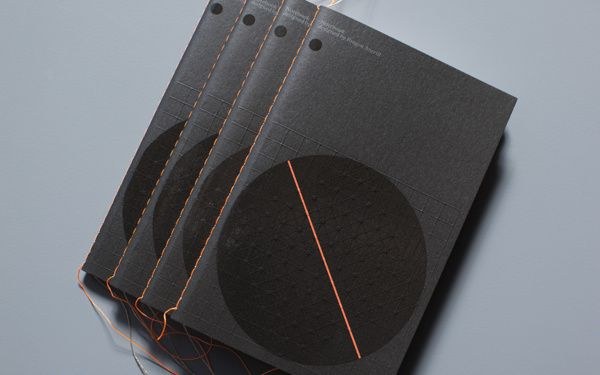 Agenda on Behance / embossed covers, threadsewn