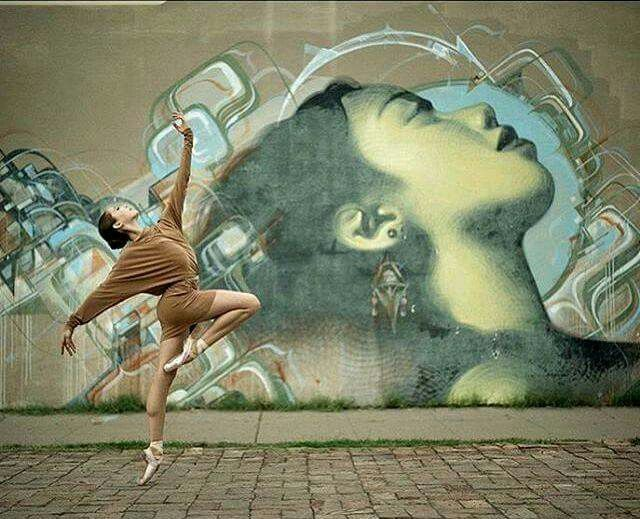 Great Shoot Ahead An Old Wall Painted By El Mac And Kofie In Phoenix Ballet DanceStreet