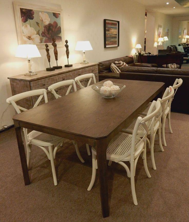 Mesa en madera de fresno medidas 180 x 90cm sillas - Mesa shabby chic ...