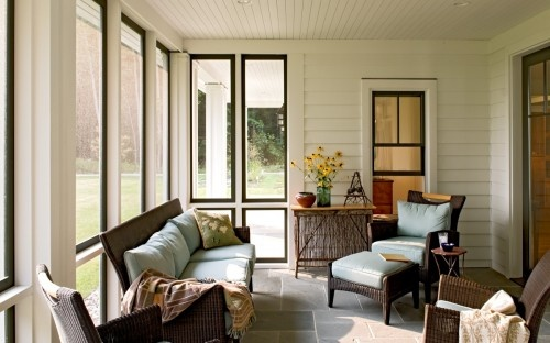 I love the windows in this 3 seasons room. Classic with a touch of contemporary.