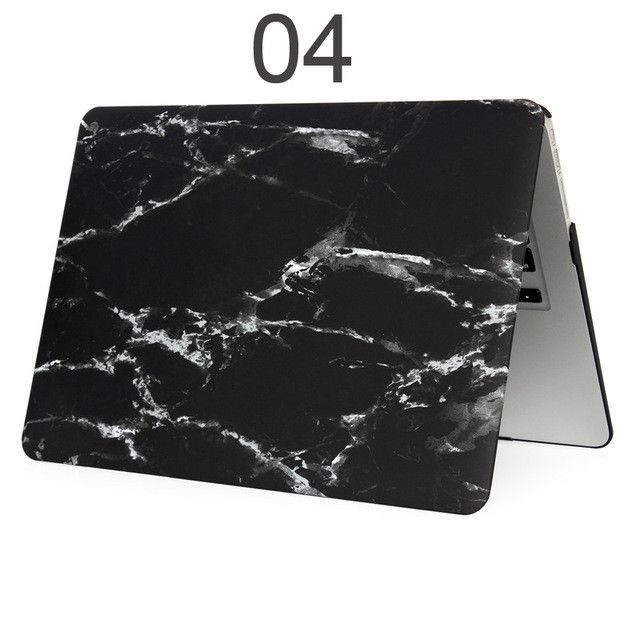 Marble Print Matte Hard Protector Laptop sleeve Case For MacBook Air 11 12 13 Pro 13 15 inch with Retina + Keyboard Cover+film